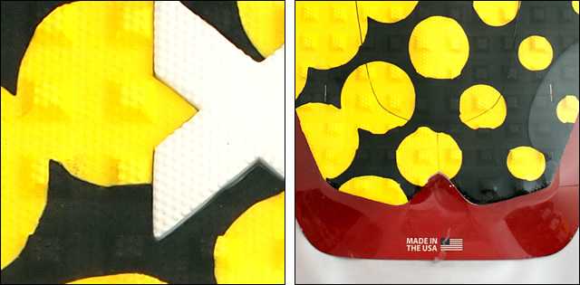 X-TRAK【エックストラック】デッキパッド POLKA.COM BK/YEL